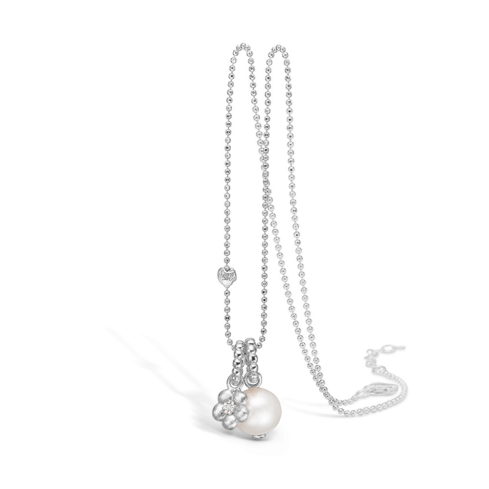Blossom Halskæde i Sterling Sølv med Perle 21331067-80