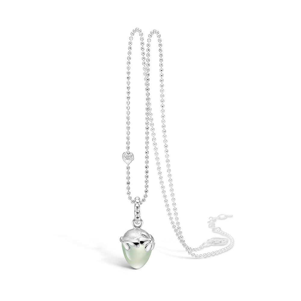 Blossom Halskæde i Sterling Sølv med Prehnite 21332009-80