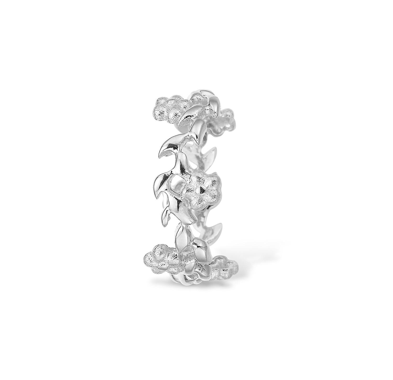 Image of   Blossom Ring i Sterling Sølv med Blomstermotiv 21611228
