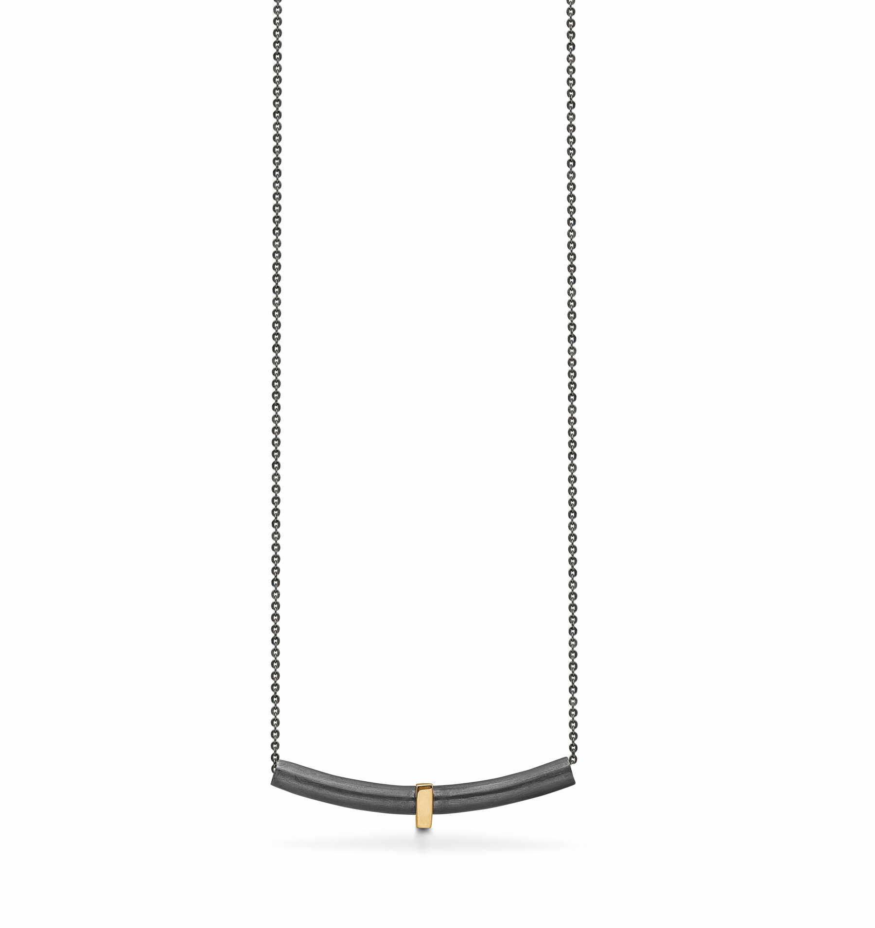 Image of   Aagaard Oxideret Sølv Halskæde med 14 Karat Guld