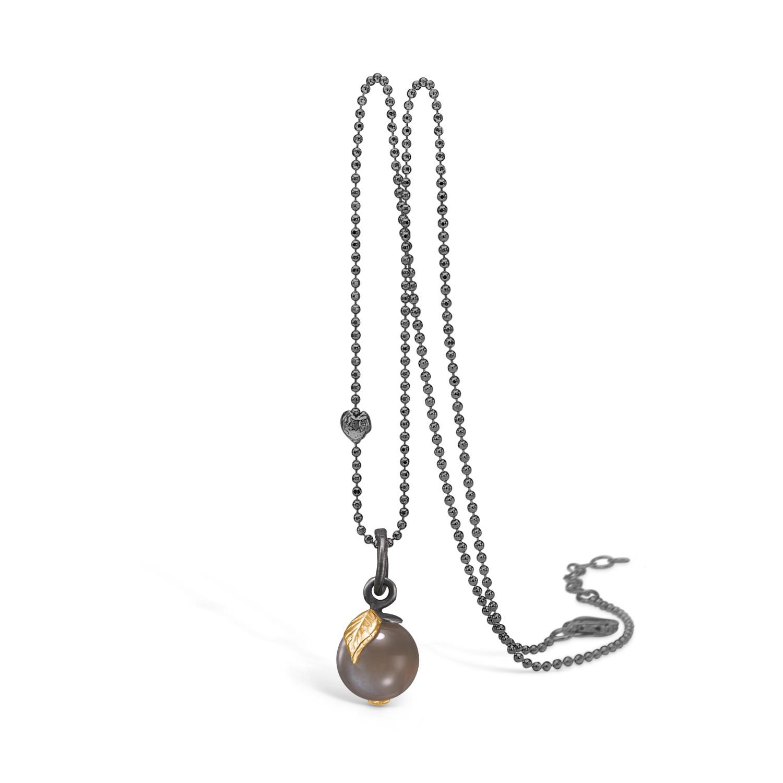 Blossom Halskæde i Sterling Sølv med Månesten 22332090-80