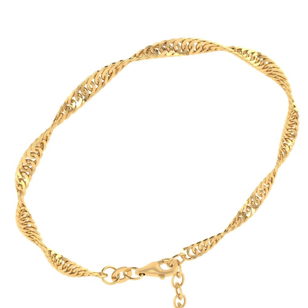 Image of   Smykkekæden 8 Karat Guld Armbånd med Singapore Mønster 224950,17/20-333
