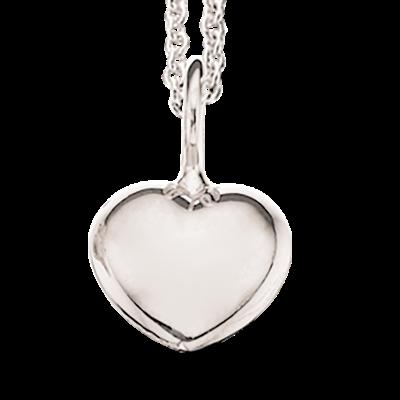 Hjerte Sterling Sølv Halskæde fra Scrouples 225212
