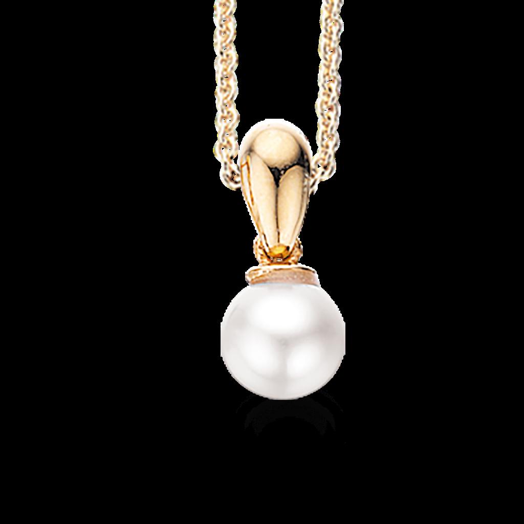 Scrouples Sølv Halskæde med Perle 226942