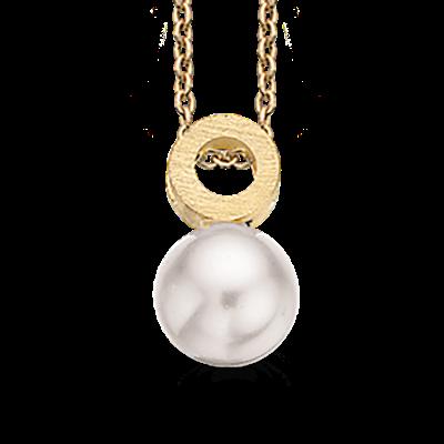 Forgyldt Sølv Halskæde fra Scrouples med Swarovski Perle