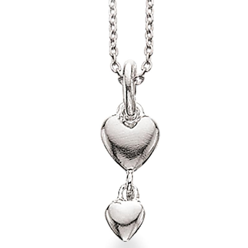 Scrouples Hjerte Sterling Sølv Halskæde 230822