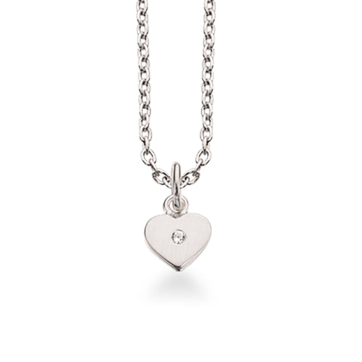 Hjerte Sterling Sølv Halskæde fra Scrouples 231242