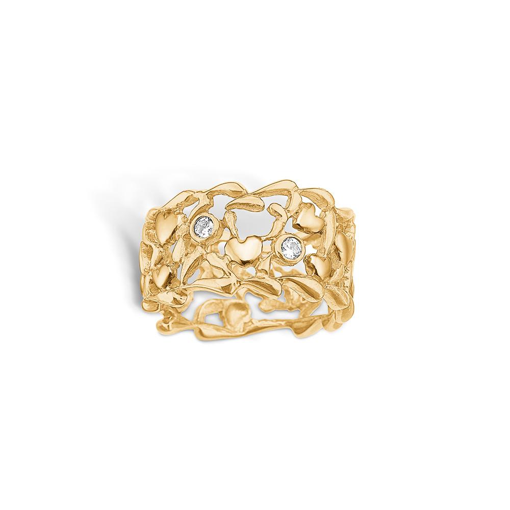 Image of   Blossom Forgyldt Sølv Ring 23621104