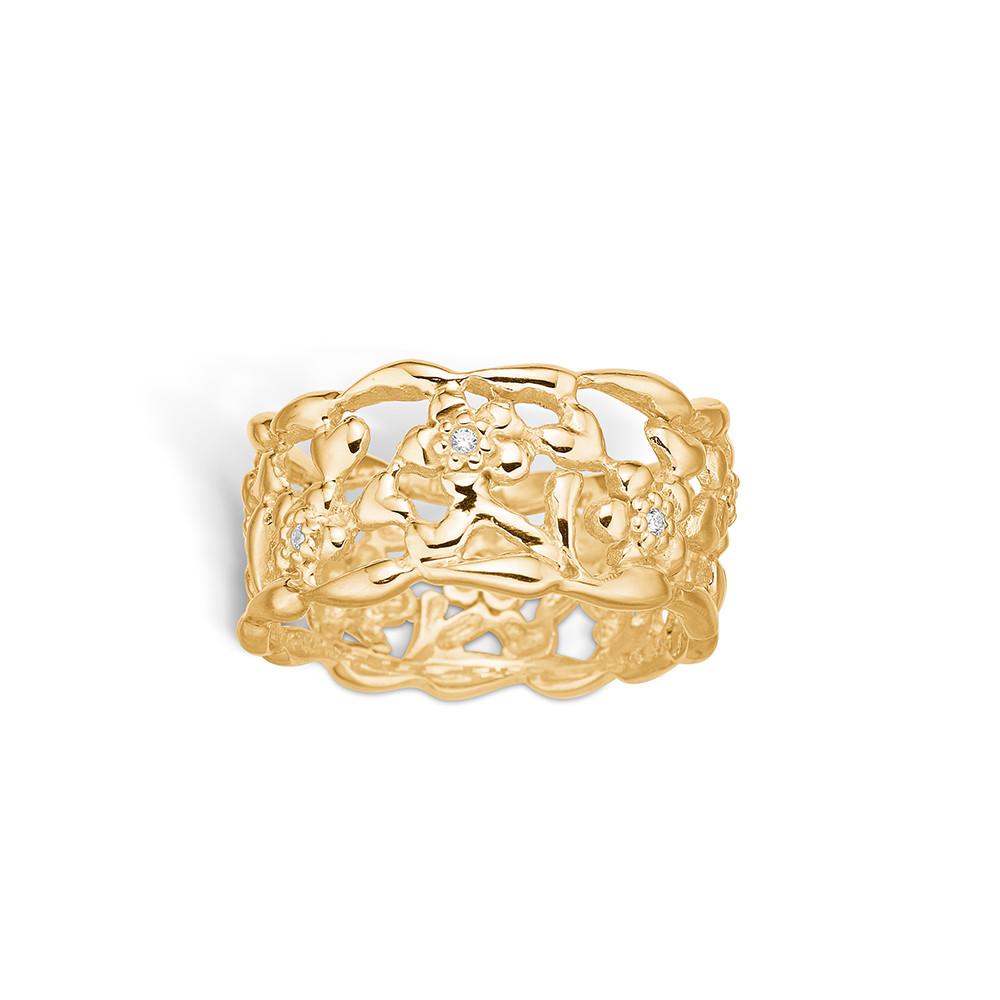 Blossom Ring i Forgyldt Sølv 23621107