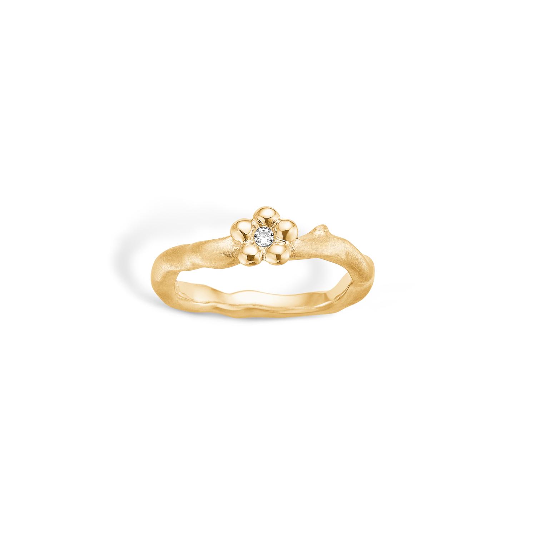 Image of   Blossom Forgyldt Sølv Ring 23621279