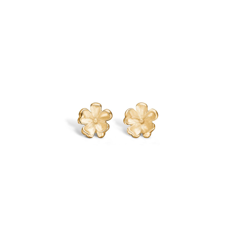 Forgyldte Sølv Øreringe fra Blossom med Blomstmotiv 23911268