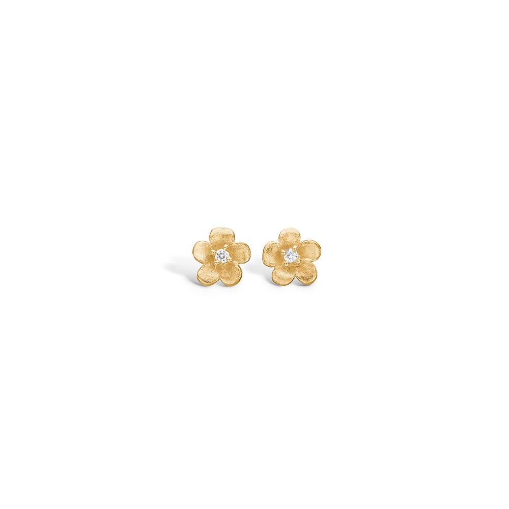 Forgyldte Sølv Ørestikker fra Blossom med Blomstermotiv 23921131