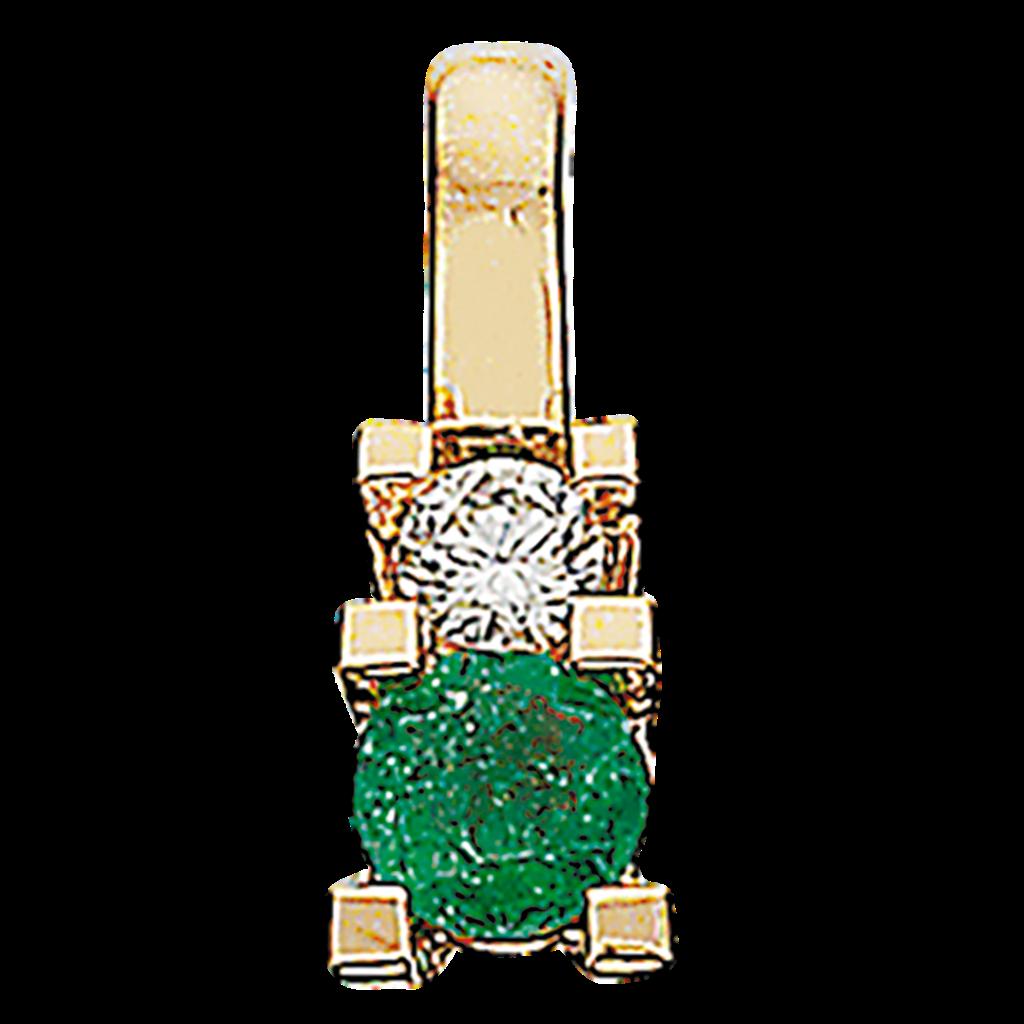 Zoya Vedhæng 0,04 ct. i 14 Karat Guld fra Scrouples med Smaragd og Diamant