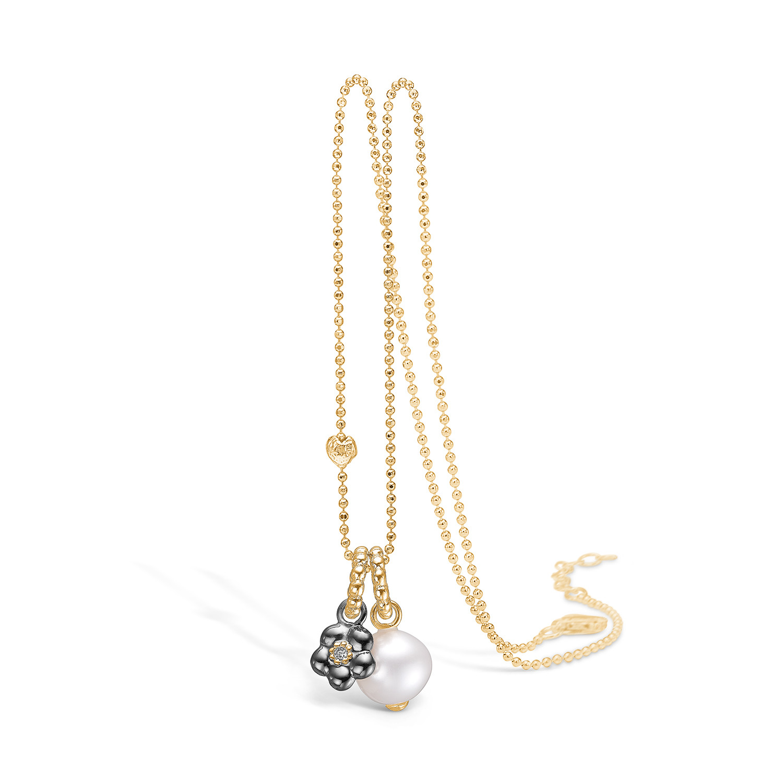 Blossom Halskæde i Sterling Sølv med Ferskvandsperle 25331067-80