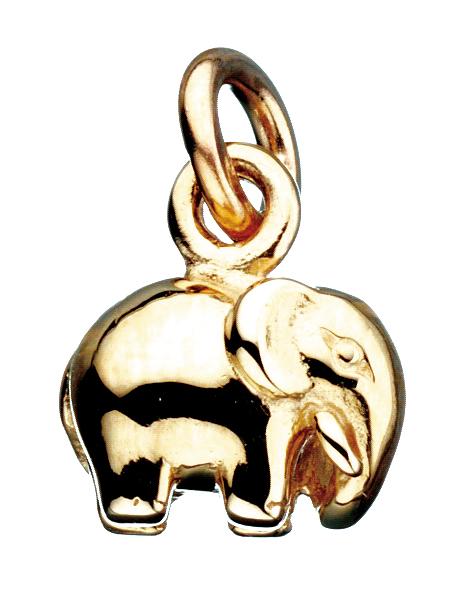 Image of   Elefant 8 Karat Guld Charm fra Scrouples 260073