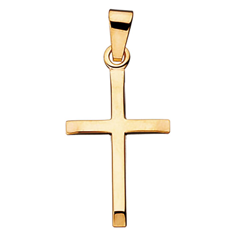 Kors 14 Karat Guld Vedhæng fra Scrouples 26335