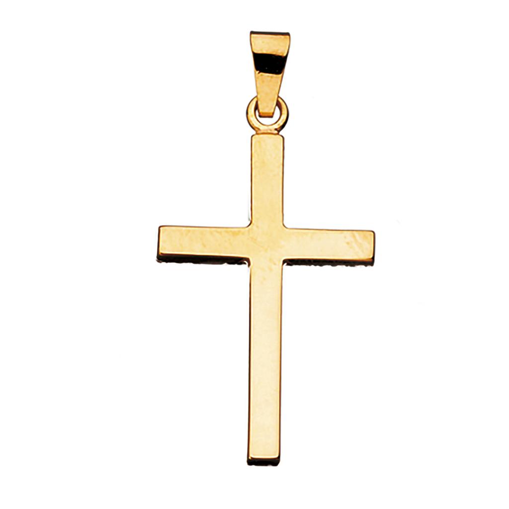Scrouples Kors 14 Karat Guld Vedhæng 26375
