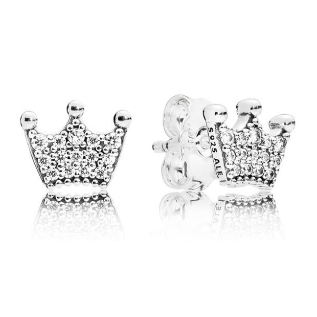 Enchanted Crowns Sølv Ørestikker fra Pandora 297127CZ