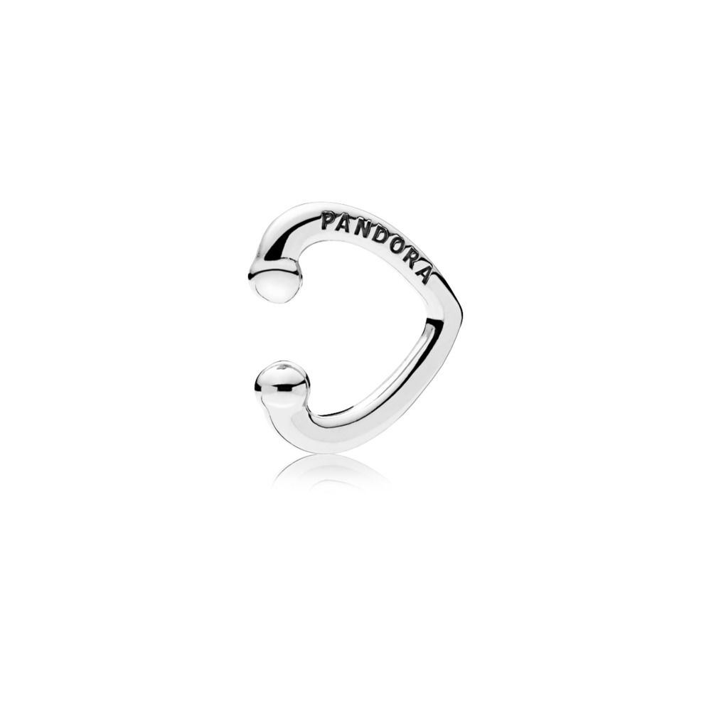 Pandora Open Heart Cuff Sølv Øreringe 297214