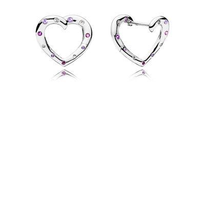 Bright Hearts Sølv Ørestikker fra Pandora