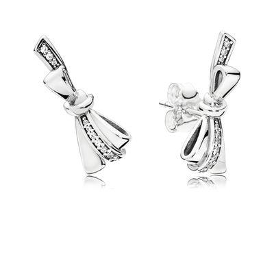 Brilliant Bows Sølv Ørestikker fra Pandora med Diamant