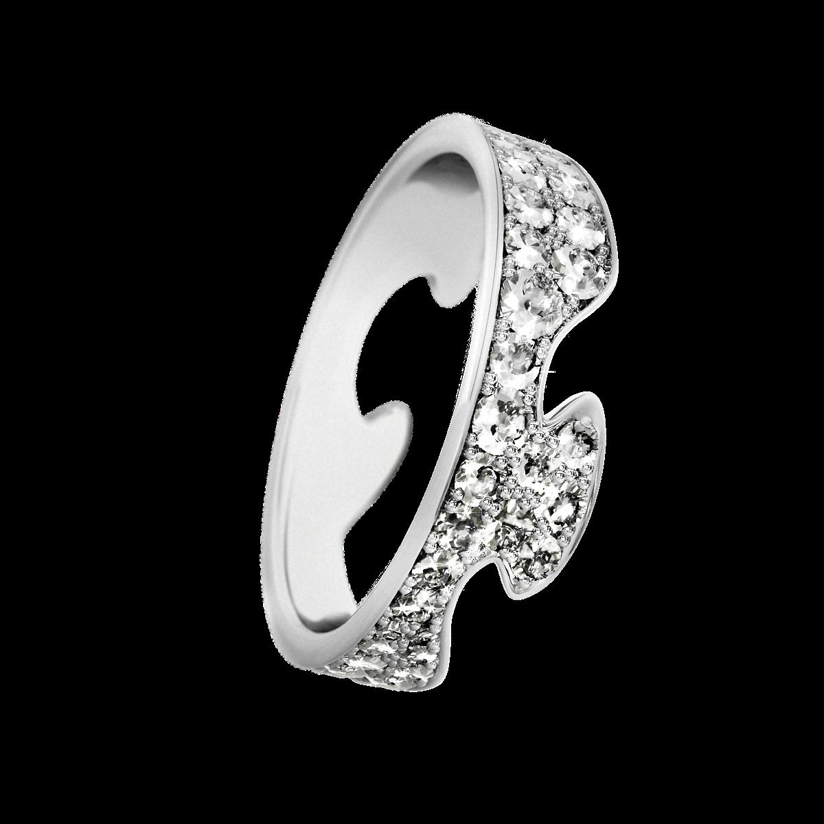 Image of   Georg Jensen Fusion ende ring 18 kt str.53