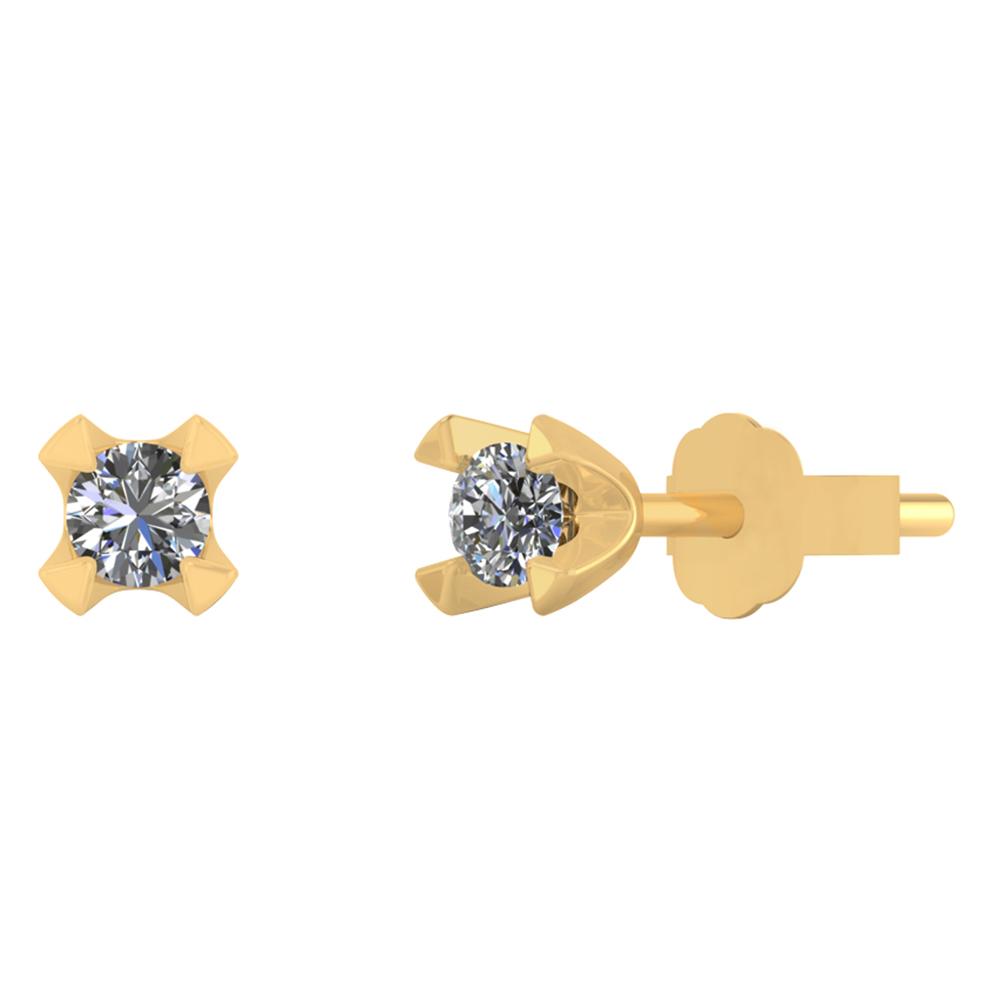 Image of   Smykkekæden Øreringe i 14 Karat Guld med Brillanter 30-00384-1850