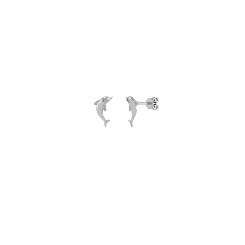 Sølv Ørestikker fra Smykkekæden med Delfinmotiv