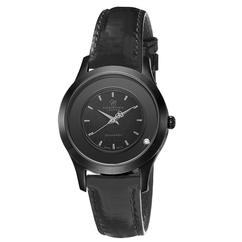 Image of   Black Collect Ur til Dame Fra Christina Watches 300BSBLBL
