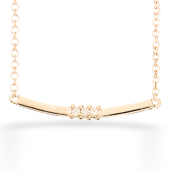 Image of   SCROUPLES COLLIER I 8KT GULD MED BRILLANTER 32953,42
