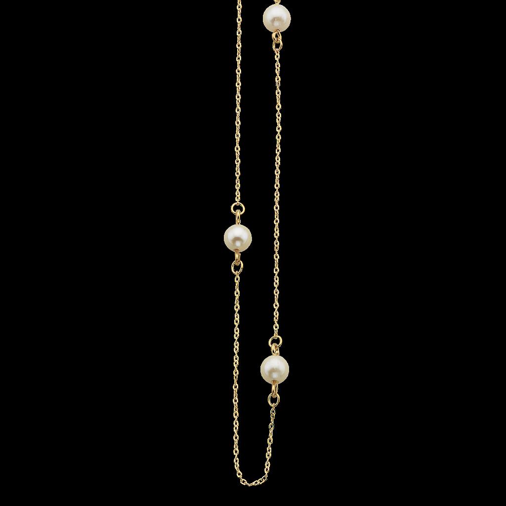 Image of   8 Karat Guld Armbånd fra Scrouples med Ferskvandsperle