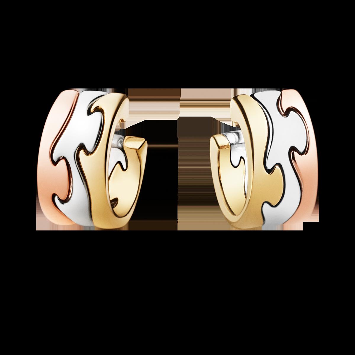 Georg Jensen Fusion øreringe - rød- og hvidguld