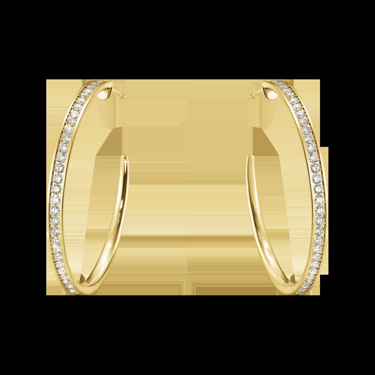 Georg Jensen Classique øreringe 18 kt. guld med diamanter