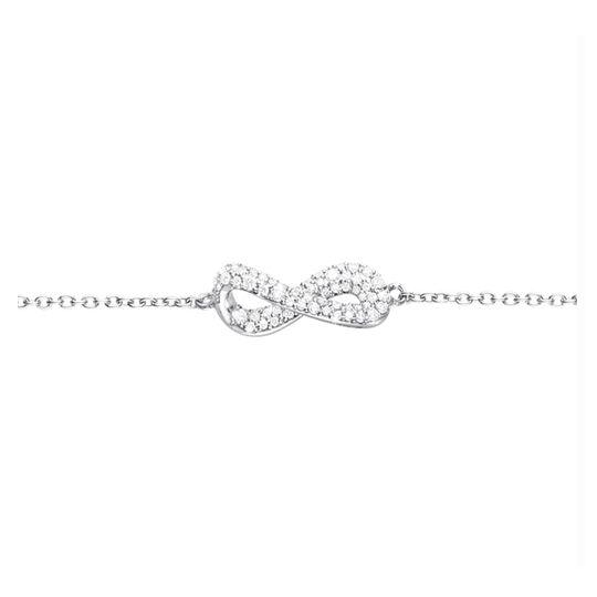 Georg Jensen Infinity Armbånd i Sterling Sølv med Brillanter 0,24 Carat TW/VS