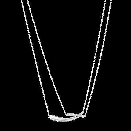 Georg Jensen Marcia Halskæde i Sølv med Diamanter