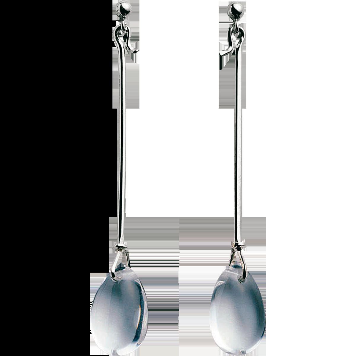 Dew Drop Sterling Sølv Smykke fra Georg Jensen med Bjergkrystal