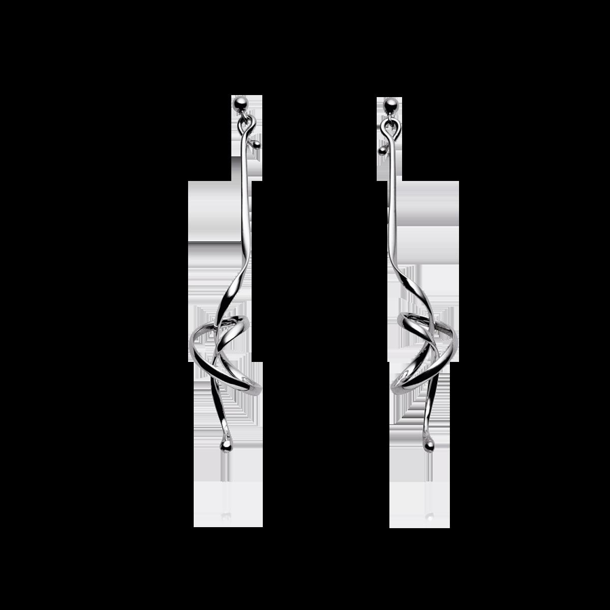 Image of   Georg Jensen Forget Me Knot ørespyd sølv