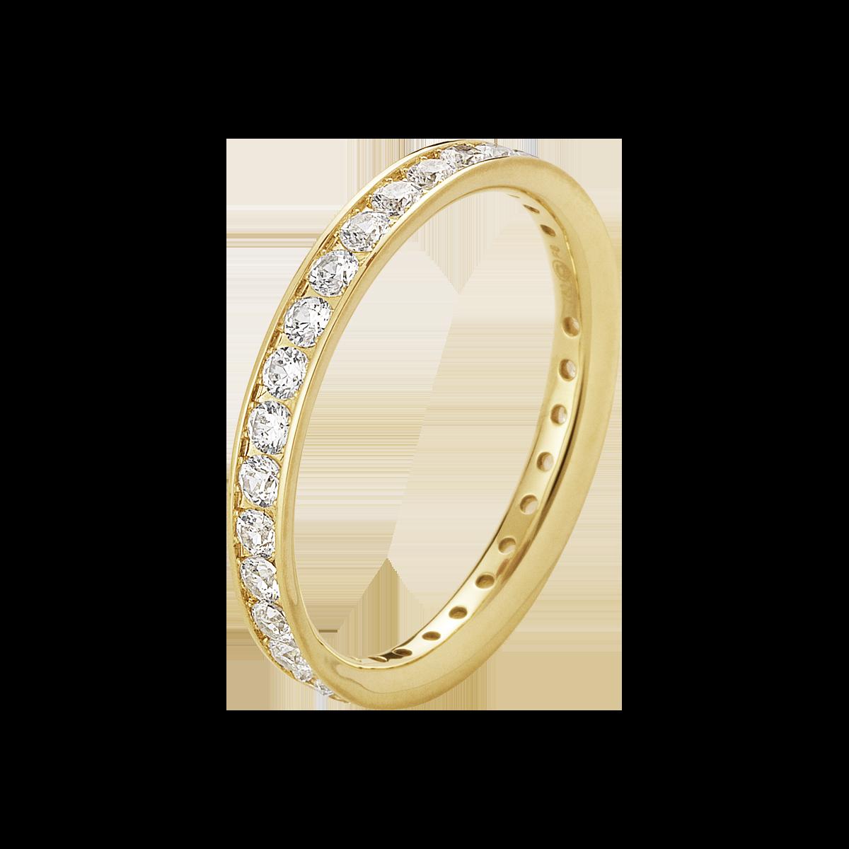 Georg Jensen Classique ring 18 kt. med diamanter str.57 thumbnail