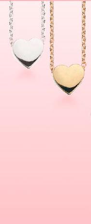 Valentine Hjerte Forgyldt Sølv Halskæde fra Scrouples
