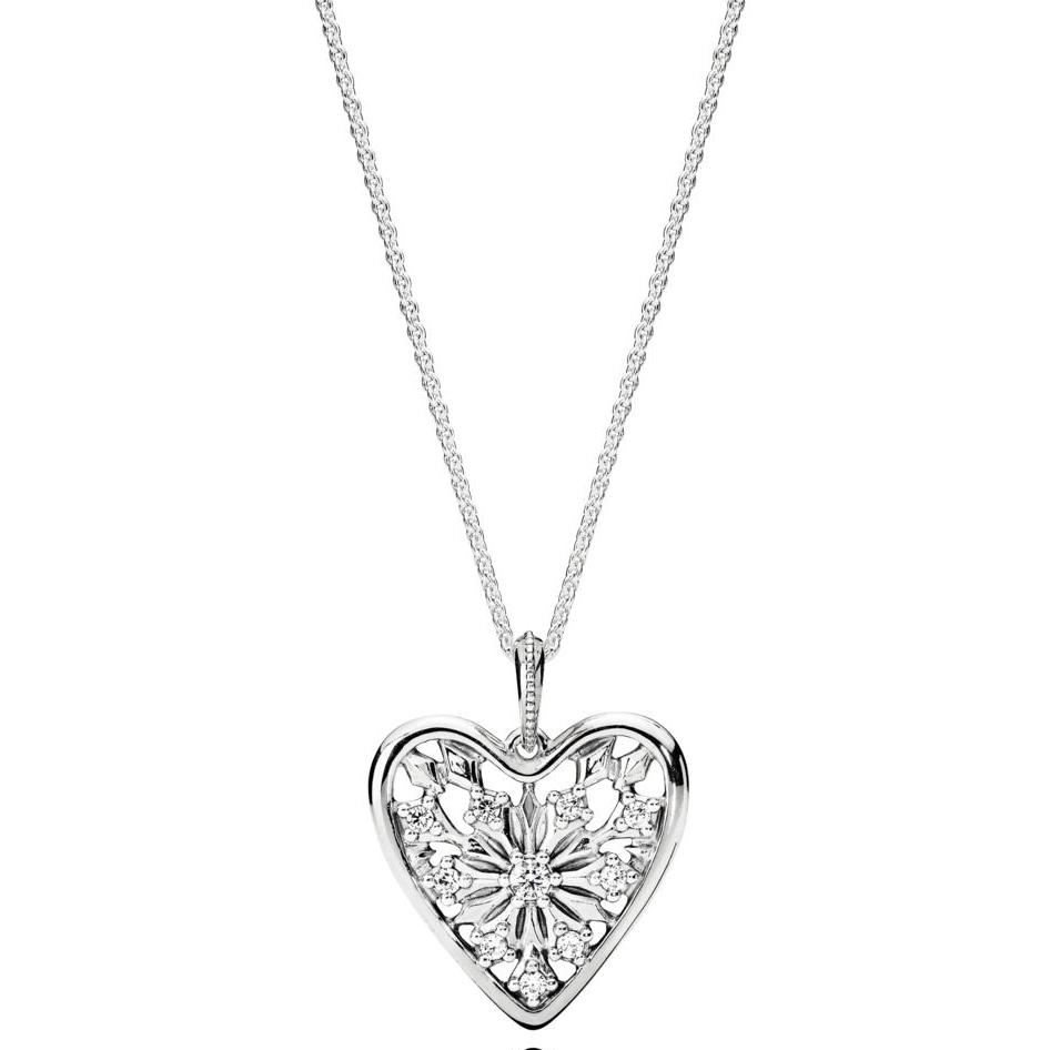 Pandora Heart Of Winter Sølv Halskæde