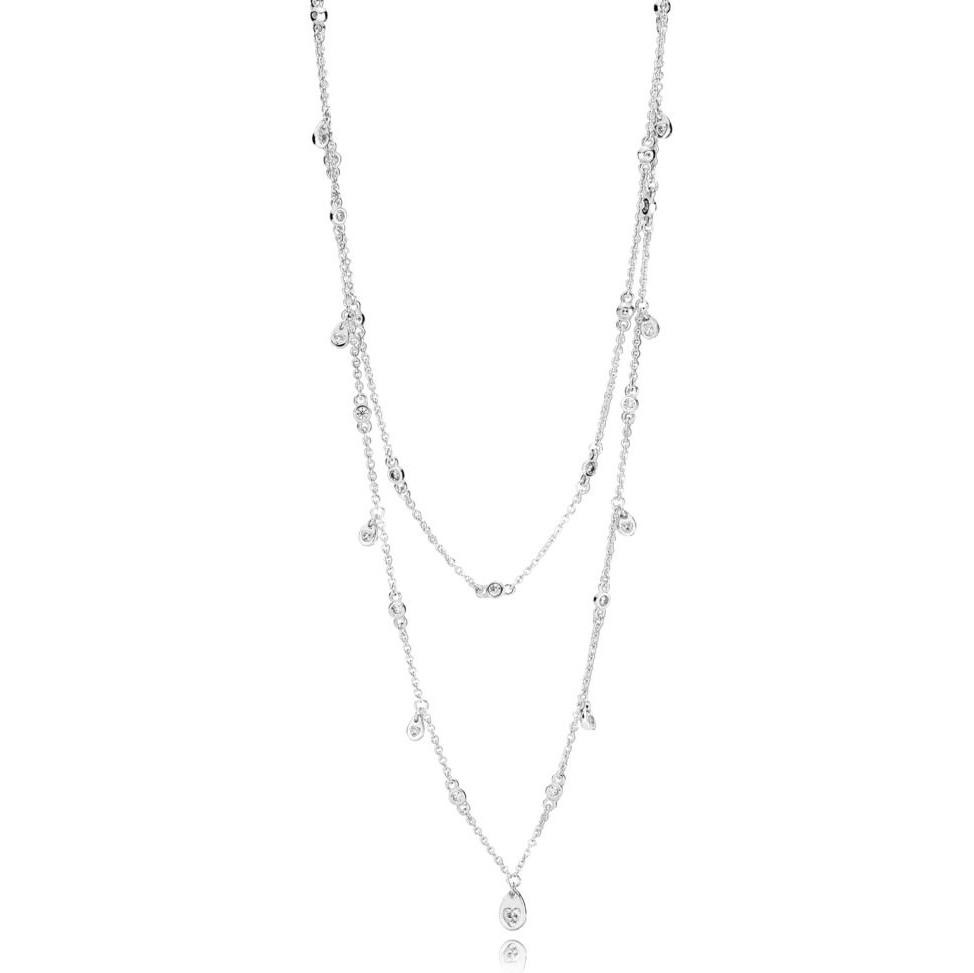 Chandelier Droplets Sølv Halskæde fra Pandora