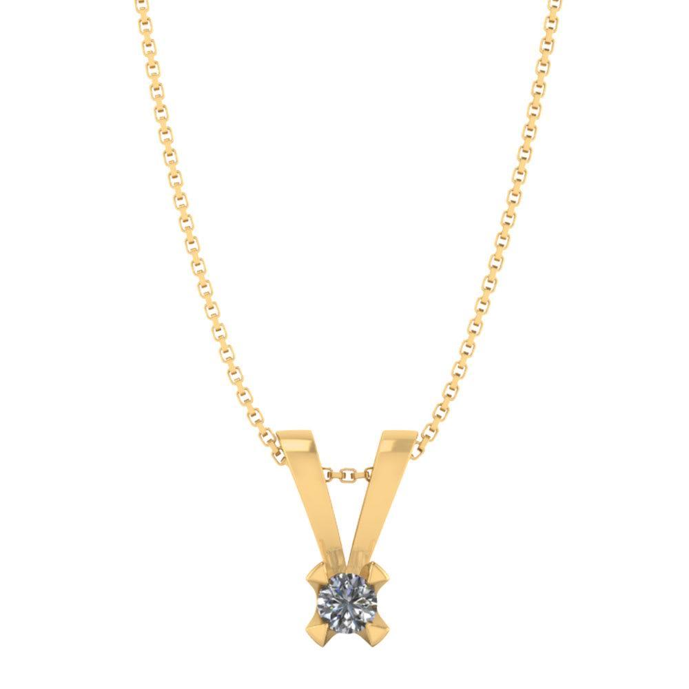 Smykkekæden Vedhæng i 14 Karat Guld med Diamant 40-00573-1850