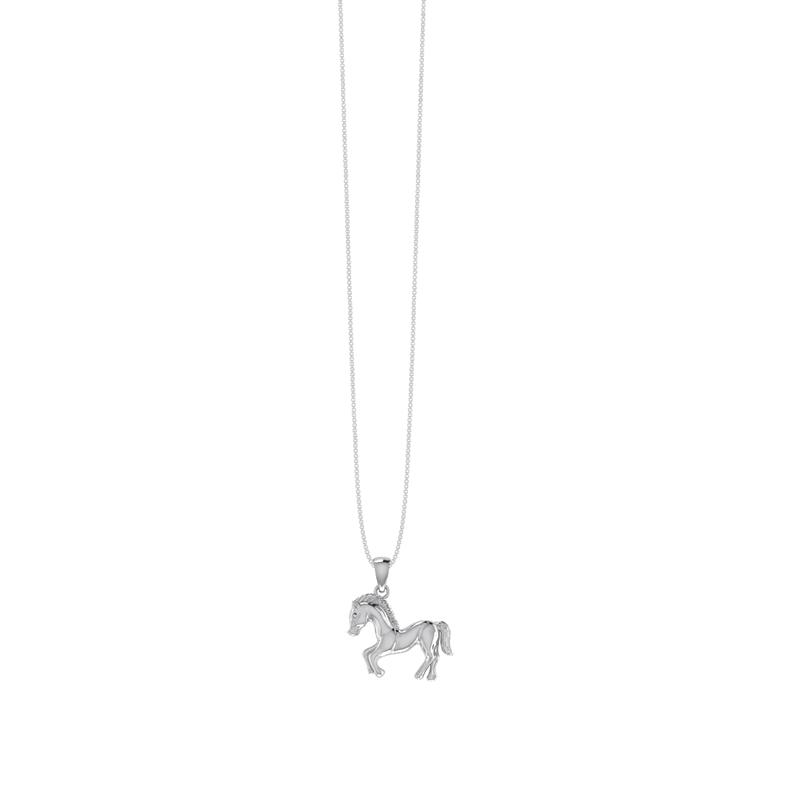 Smykkekæden Sølv Halskæde med Hestemotiv