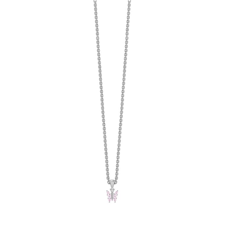 Sølv Halskæde fra Smykkekæden med Sommerfuglevedhæng
