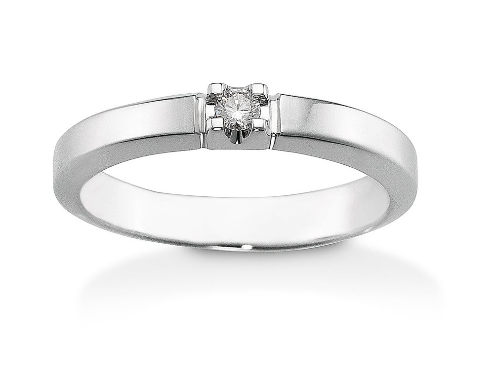 Aagaard Mary 14 Karat Hvidguld Ring med Diamant 0,03 Carat