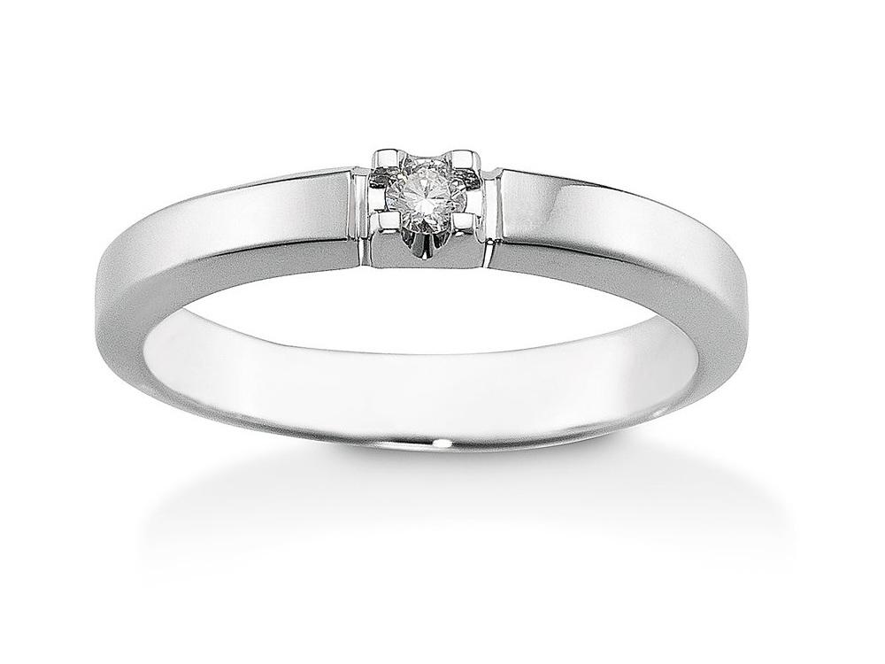 Image of   Aagaard Mary 14 Karat Hvidguld Ring med Diamant 0,03 Carat