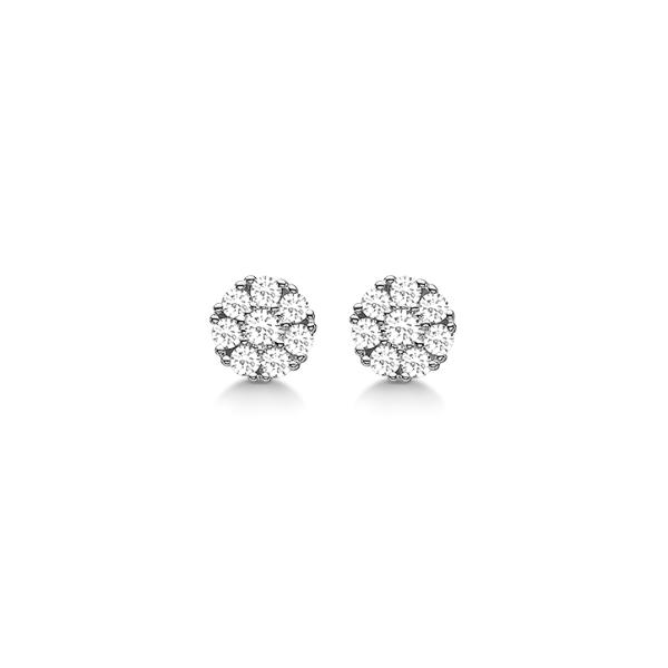 Aagaard 14 Karat Hvidguld Ørestikker med Diamanter 0,14 Carat W/SI