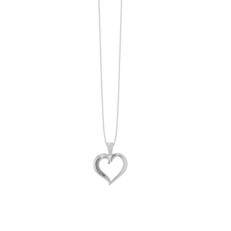 Sølv Halskæde fra Smykkekæden med Hjerte