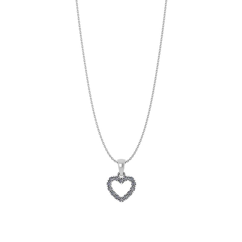 Smykkekæden Halskæde i Sterling Sølv med Hjertevedhæng
