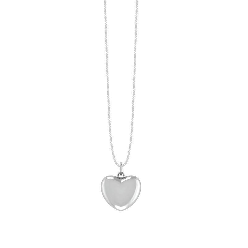 Sølv Halskæde fra Smykkekæden med Hjertevehæng